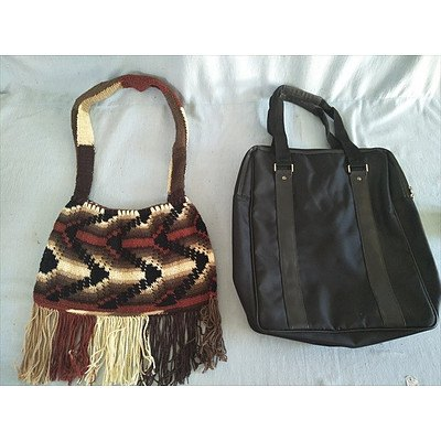 Glen Morgangie tote bag & hand knitted shoulder bag
