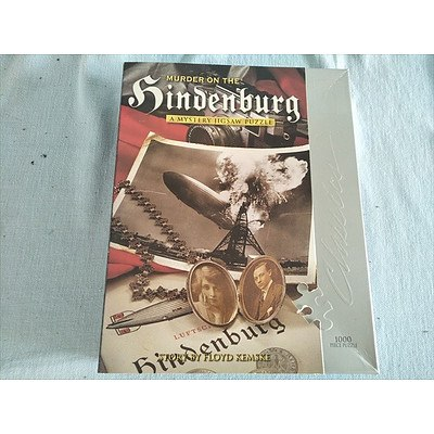 Murder on the Hindenburg - A mystery jigsaw puzzle (1000 pieces) - Read Assemble Solve (NEW unopened)