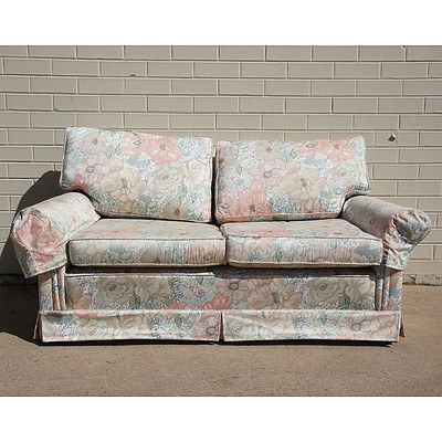 Two Seater Floral Upholstered Couch