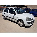 6/2005 Renault Clio Authentique  5d Hatchback White 1.4L