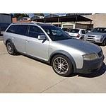 5/2002 Audi Allroad Quattro  C5 4d Wagon Silver 2.7L