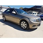 9/2007 Mercedes-Benz C200 Kompressor Classic W204 4d Sedan Beige 1.8L