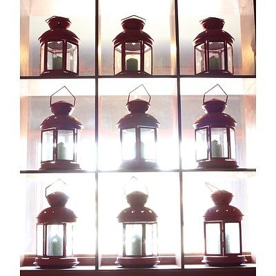 Hurricane Lamp Candle Holders - Lot of Nine