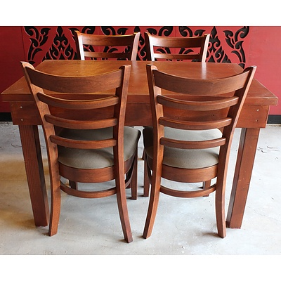 Seven Restaurant Dining Tables and 25 Chairs