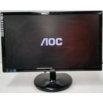 "AOC Razor e2243Fw2k 21.5"" Slim Full HD LED Monitor"
