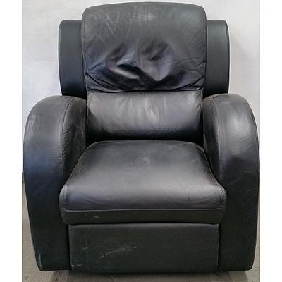 Garstone Design Furniture Leather Recliner Armschair