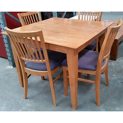 Five Piece Maple Dining Setting