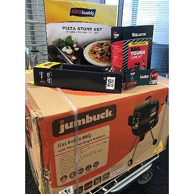 Jumbuck Gas Kettle BBQ & Accessories - Valued at $320