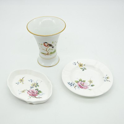 Wedgwood Trinket Tray, Ash Tray and Forstenberg Cup