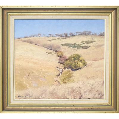 Warwick Fuller (1948-) Creek Line Oil on Board