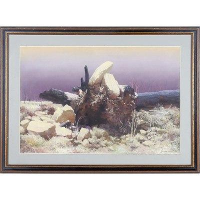 Harry Frost (Australian) The Fallen Tree Pastel