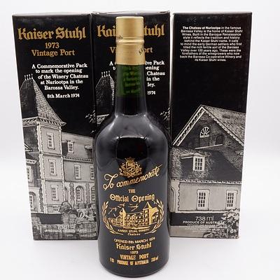 Three Bottles of Kaiser Stuhl Commemorative 1973 Vintage Port 738ml