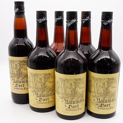 Case of 6x Yalumba Port Galway Pipe (Five x 738ml and One 1 Pint 6 FL. OZ.)