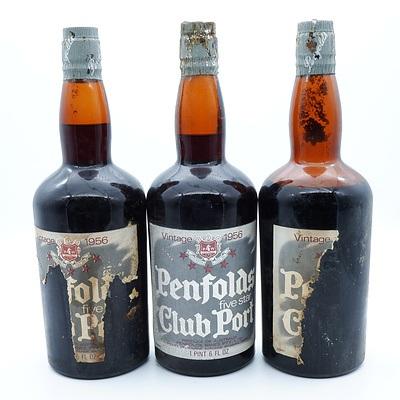 Three Bottles of Penfolds Five Star Club Port Vintage 1956