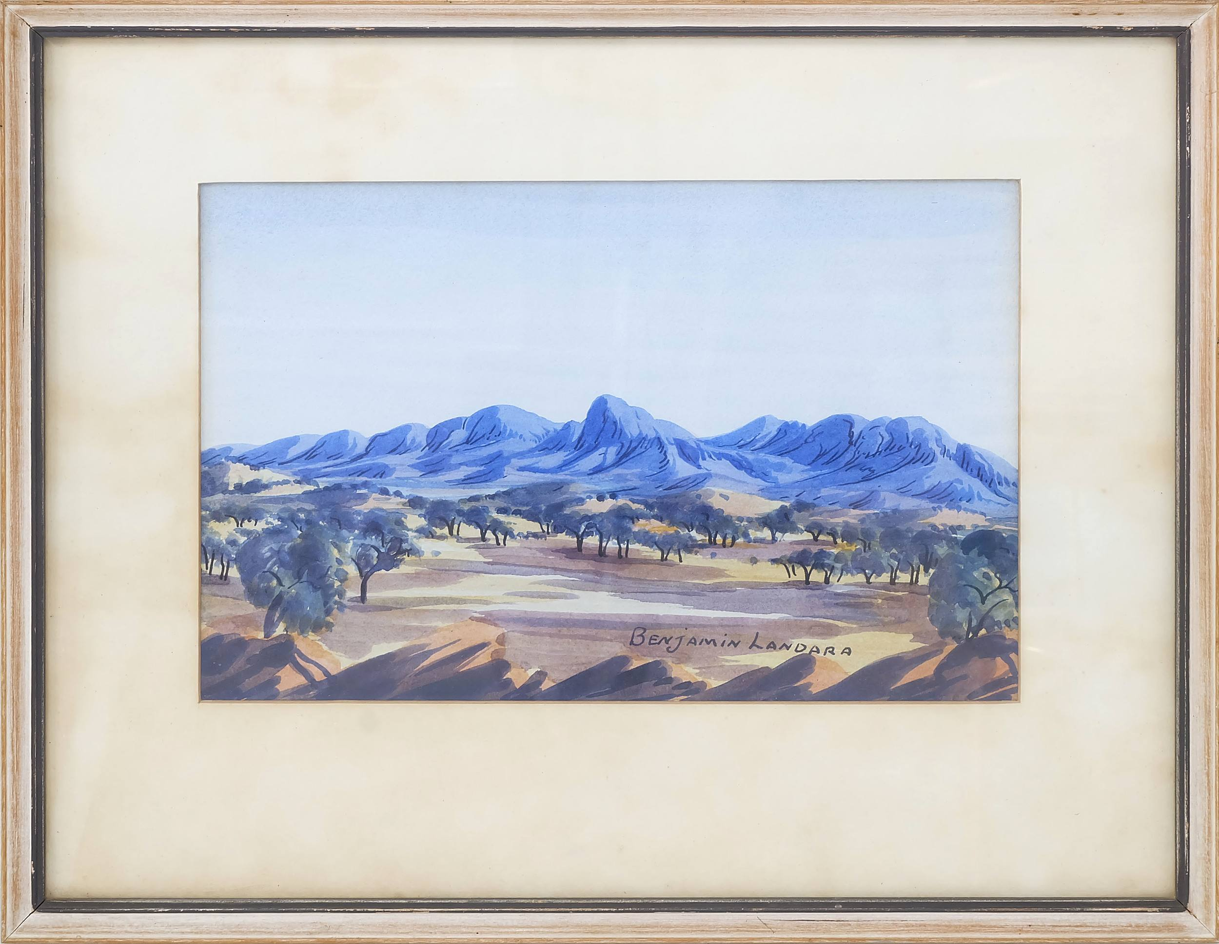 'Benjamin Landara (1921-1985) Mount Conway Watercolour'