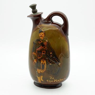 Royal Doulton Kingsware The Pipe Major Dewar's Whisky Flask