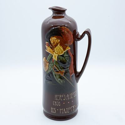 Royal Doulton Kingsware Here's a Health Unto His Majesty Dewar's Whisky Decanter