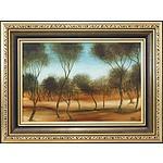 Pro Hart (1928-2006) Landscape Oil on Board
