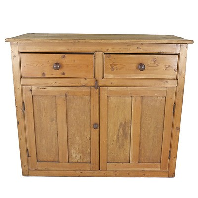 Large Antique European Baltic Pine Dresser Base