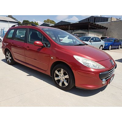 2/2007 Peugeot 307 XSE HDi 2.0 Touring MY06 UPGRADE 4d Wagon Red 2.0L