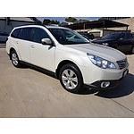 10/2012 Subaru Outback 2.5i Premium MY12 4d Wagon White 2.5L