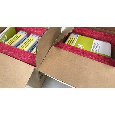Hp DesignJet Series 4000 3 90 Yellow & Magenta Ink Cartridges