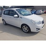 2/2010 Holden Barina  TK MY10 5d Hatchback White 1.6L