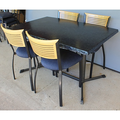 Four Sebel Restaurant/Cafe Tables and 16 x FNV Dining Chairs