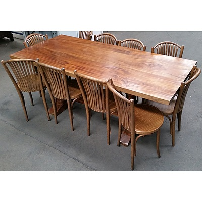 Rustic Eleven Piece Dining Setting