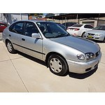 4/2001 Toyota Corolla Ascent SECA AE112R 5d Liftback Silver 1.8L