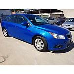 6/2011 Holden Cruze CD JH 4d Sedan Blue 1.8L