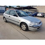 10/1997 Honda Civic CXi  3d Hatchback Silver 1.6L