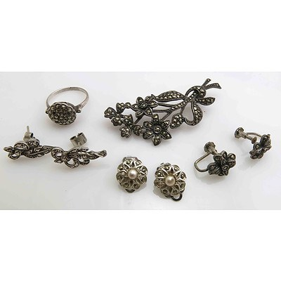 Vintage Silver Marcasite Collection