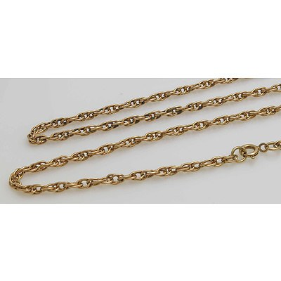 9ct Gold Chain - very long