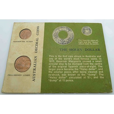 Australian Mint Set 1966 One and Two Cent Coins