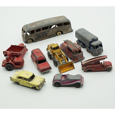 Group of Vintage Model Cars, Including Dinky, Lesney, Fun Ho and More