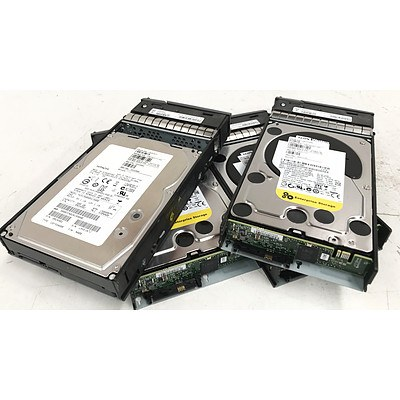 Hitachi & Western Digital 600GB SAS Hard Drives - Lot of 4