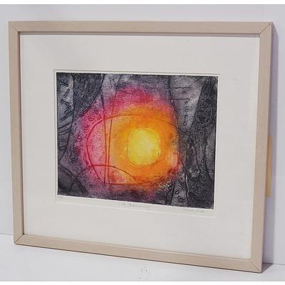 Sheila White (1927-) A Beginning Framed Colour Engraving