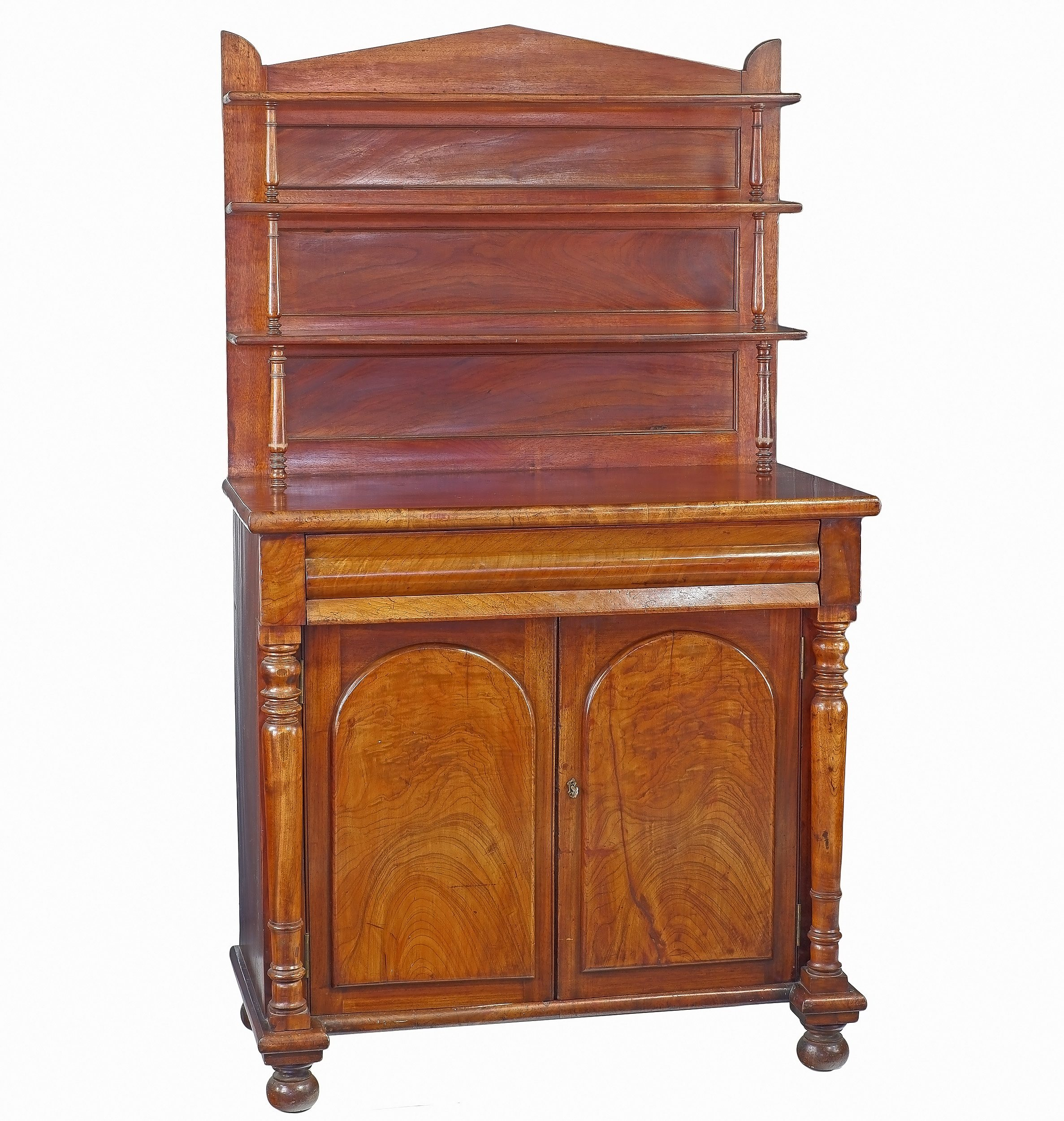 'Fine Australian Cedar Chiffonier with Palladian Back and Open Shelves Circa 1845 Probably NSW (Sydney)'