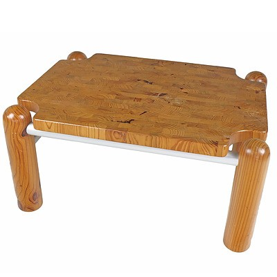 Robert Dunlop OAM Coffee Table Laminated Pine and Aluminium