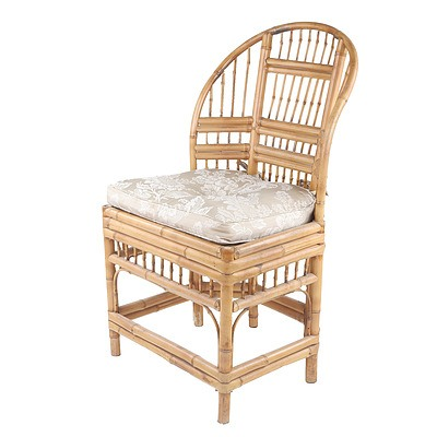 Vintage Chinese Bamboo Chair Mid 20th Century