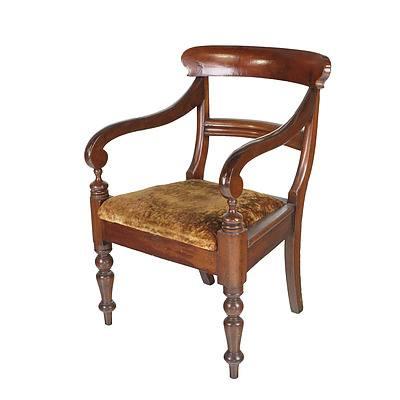 Australian Cedar Carver Chair, Third Quarter of the 19th Century