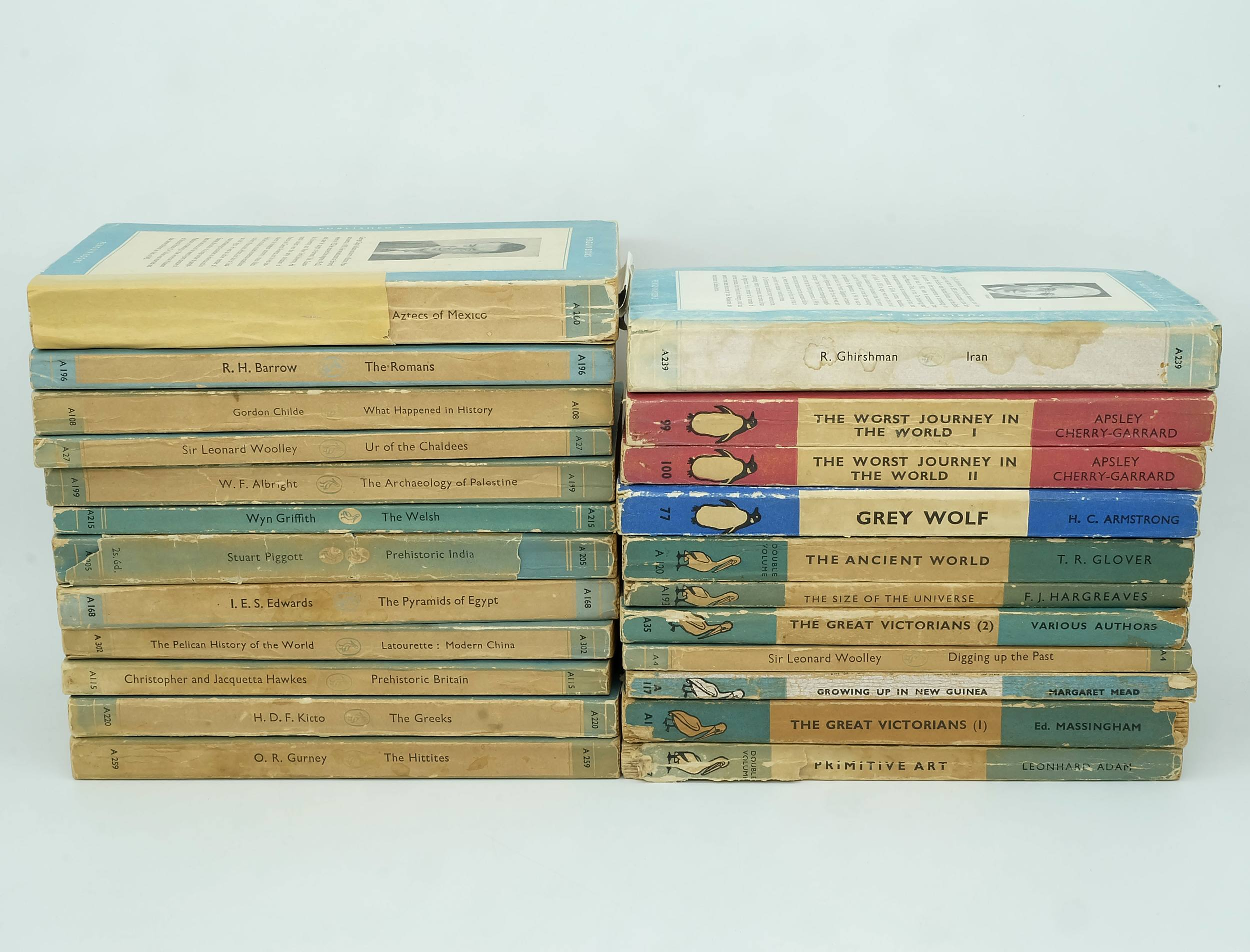 'Twenty Three Vintage Penguin Books, Including Grey Wolf, The Ancient World, Iran and More'