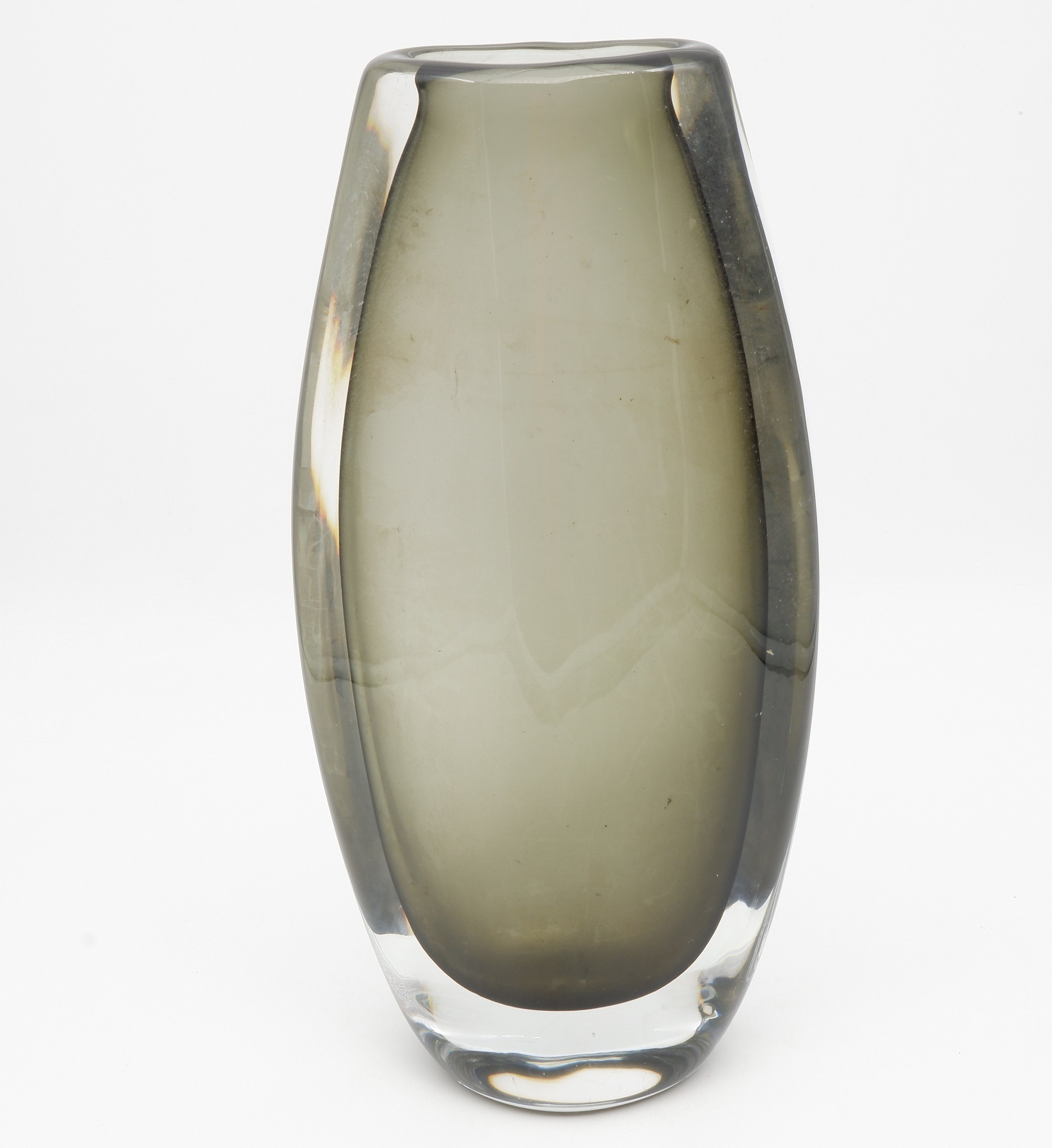 'Tall Grey Hue Orrefors Vase'