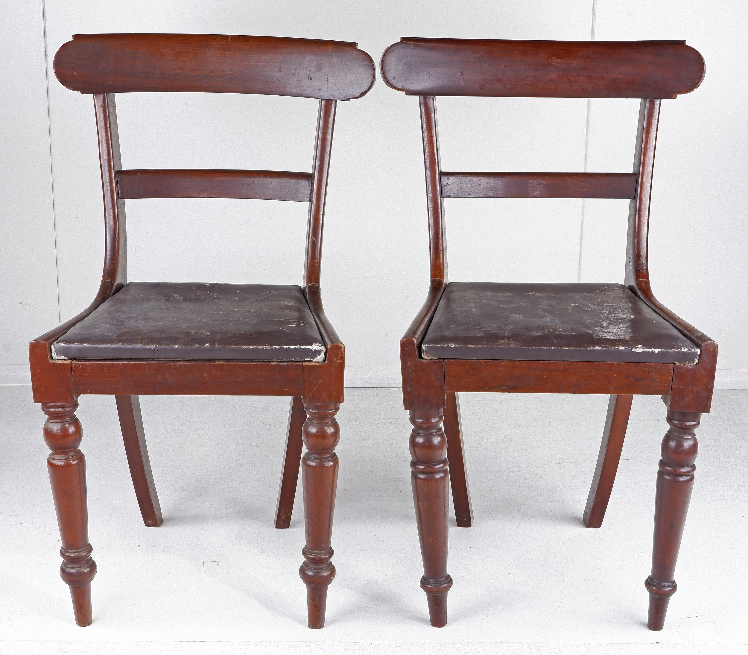 'Four Australian Cedar Bar Back Chairs 19th Century '