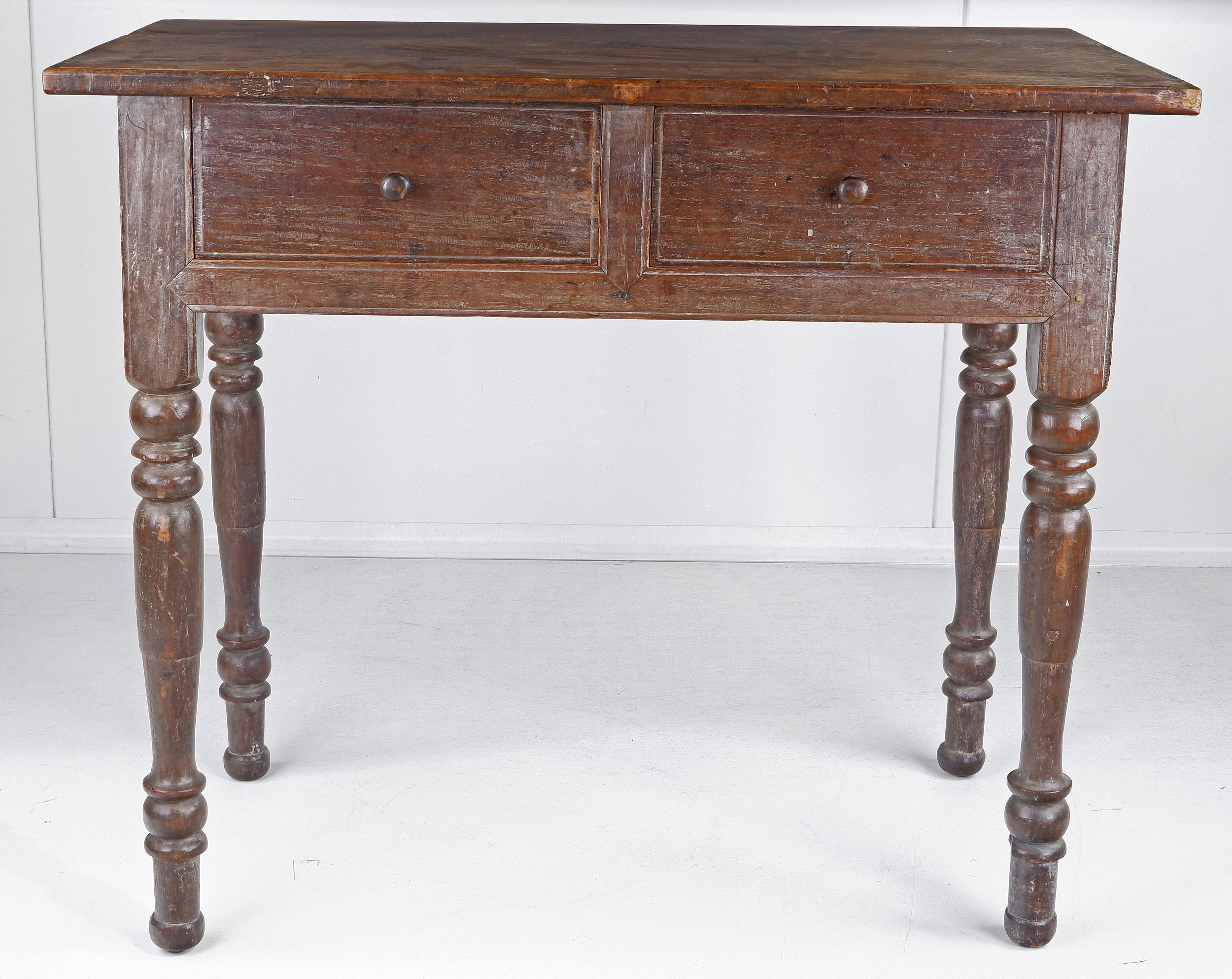'East Indies Colonial Style Two Drawer Side Table 19th Century'
