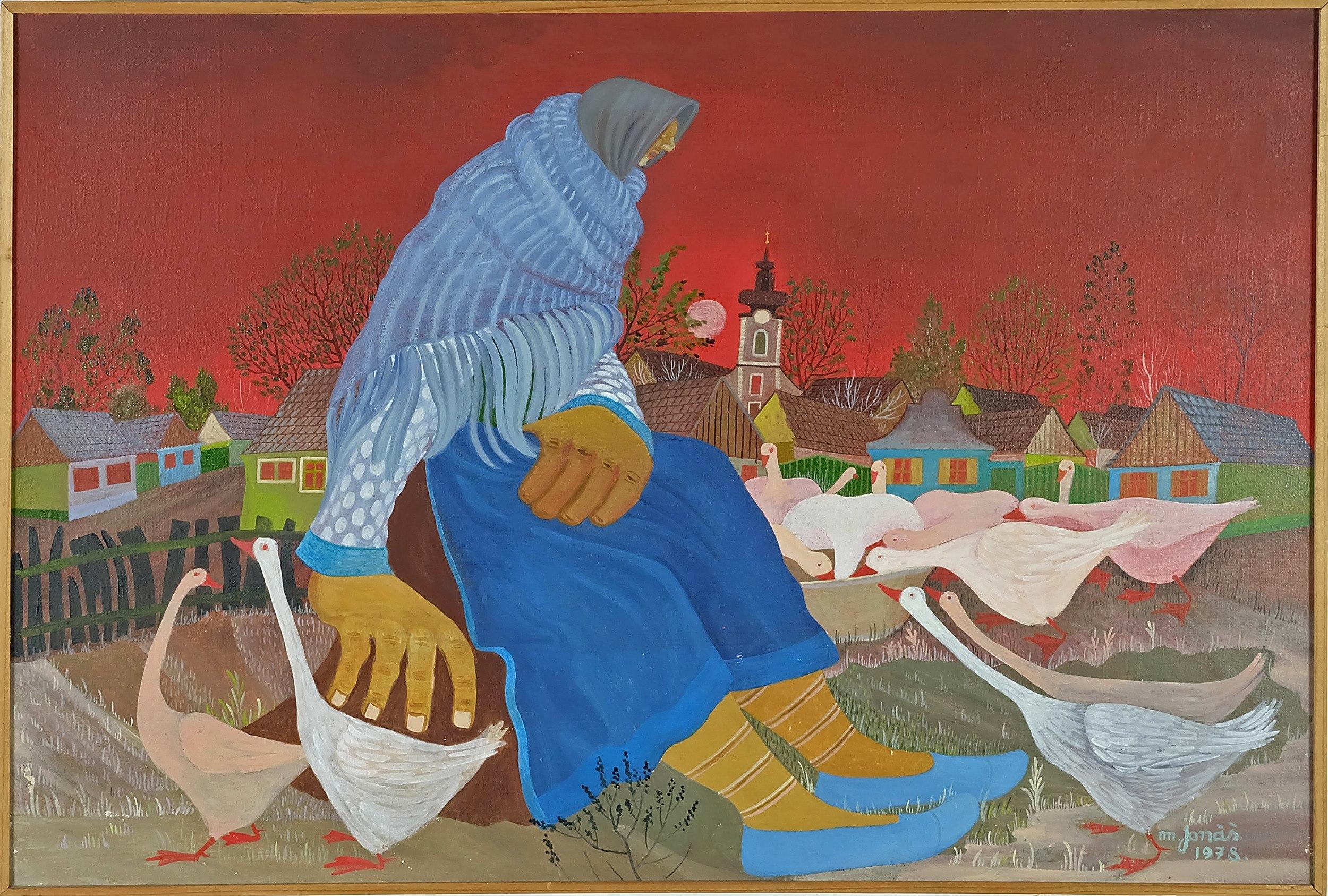 'Martin Jonas (Yugoslavian 1924-) Untitled Oil on Canvas'