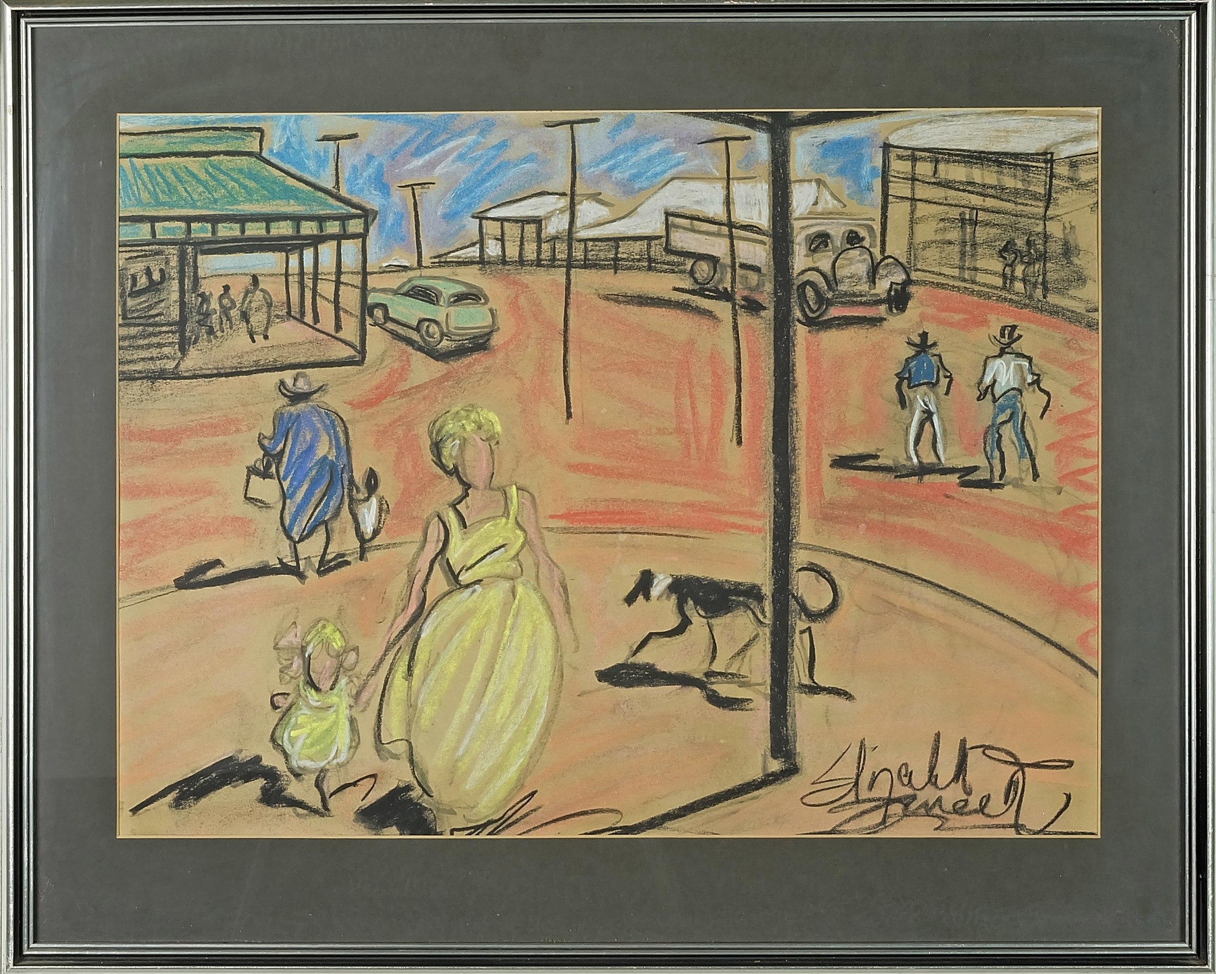 'Elizabeth Durack (1915-2000) Untitled From the Meekathara Series Pastel on Paper'