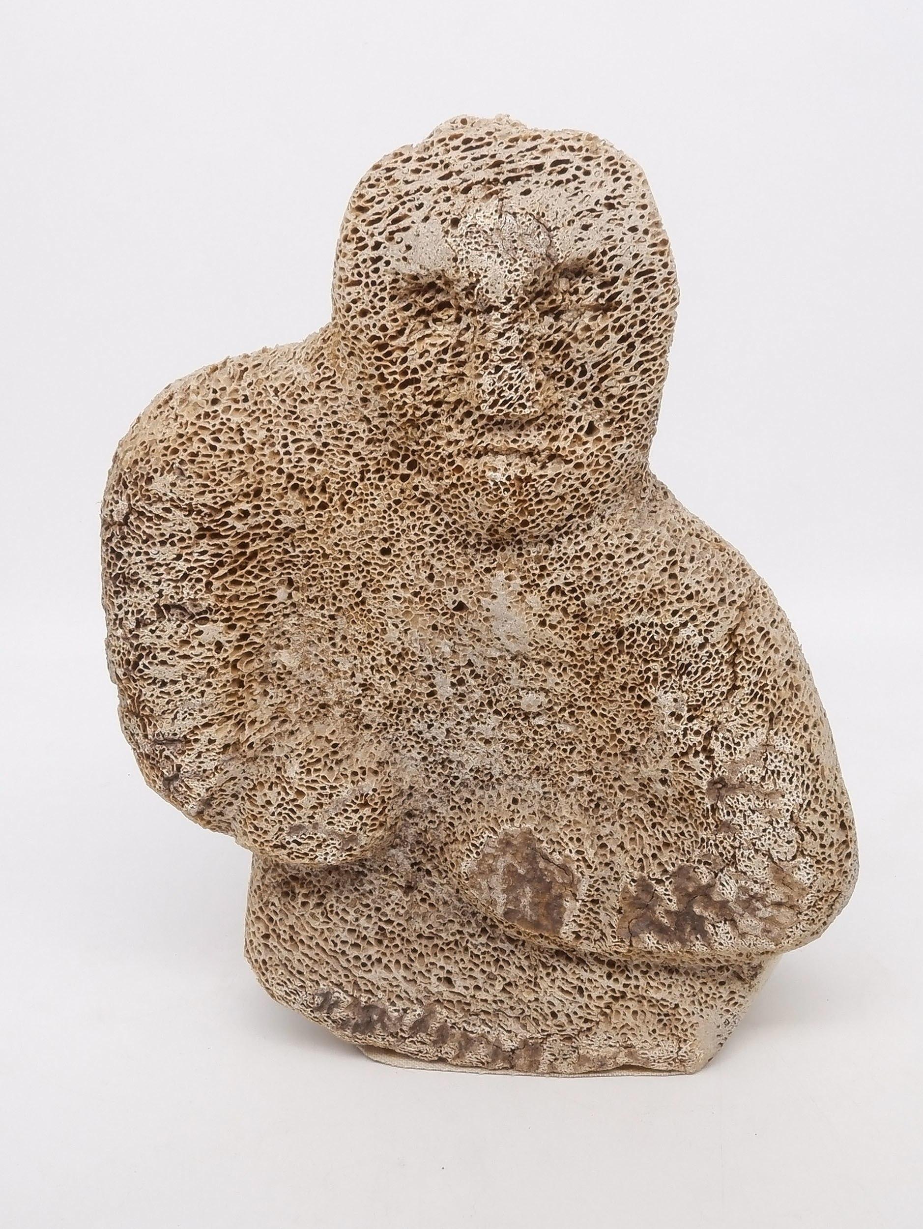 'Pauloosie Karpik (Inuit 1911-1988) Carved Whalebone Figure'