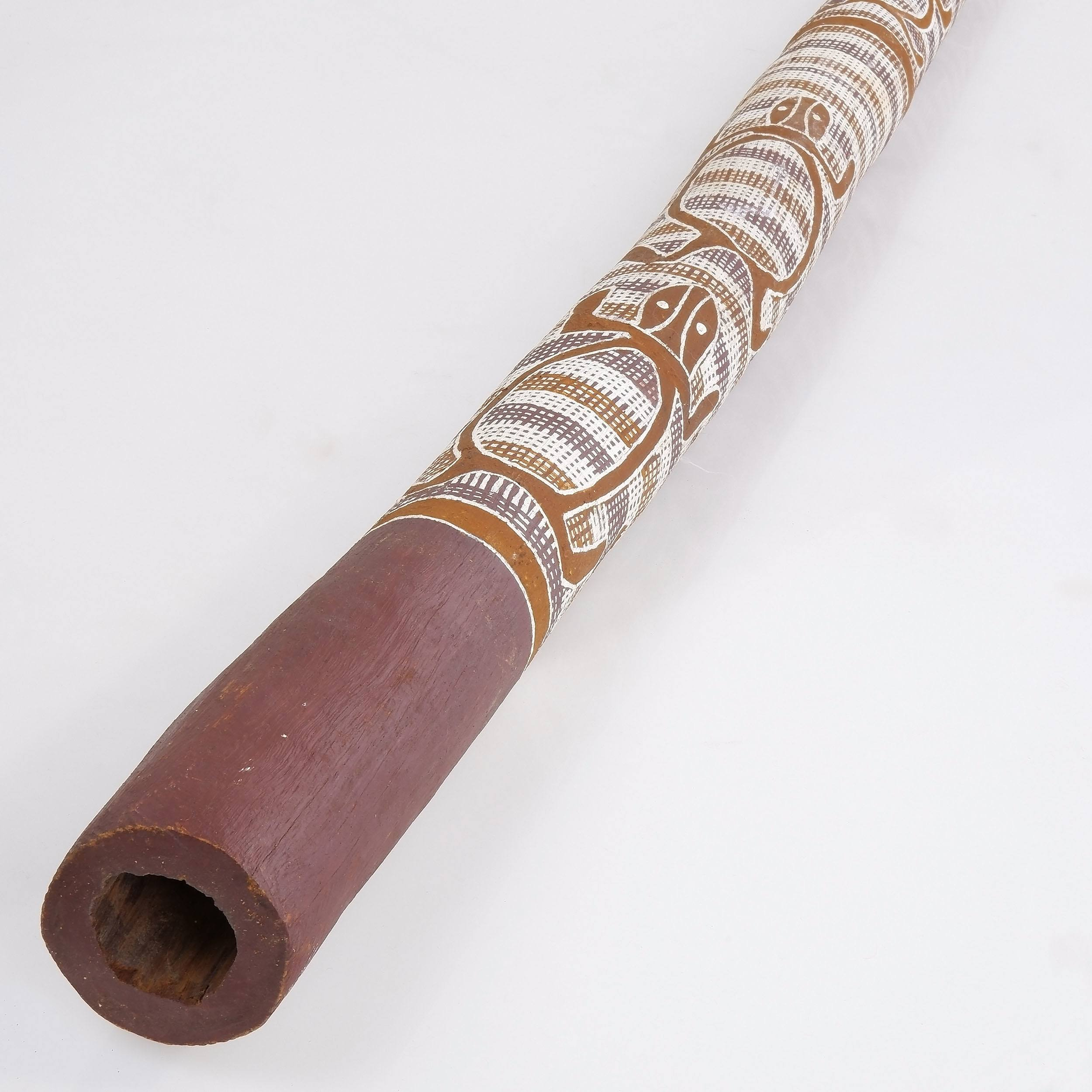 'Didgeridoo by Narila of Nakara Tribe, Acquired Maningrida 1977'